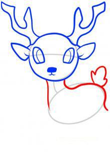 Рисуем оленя  для детей - шаг 5