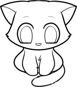 Рисуем кошку для детей - шаг 8