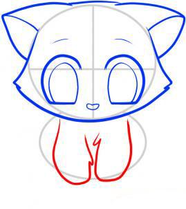 Рисуем кошку для детей - шаг 6