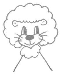 Рисуем львенка за 30 сек - шаг 7