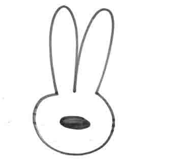 Рисуем зайчика за 10 секунд - шаг 3