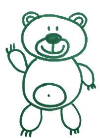 Как легко и просто нарисовать мишку ребенку - шаг 10