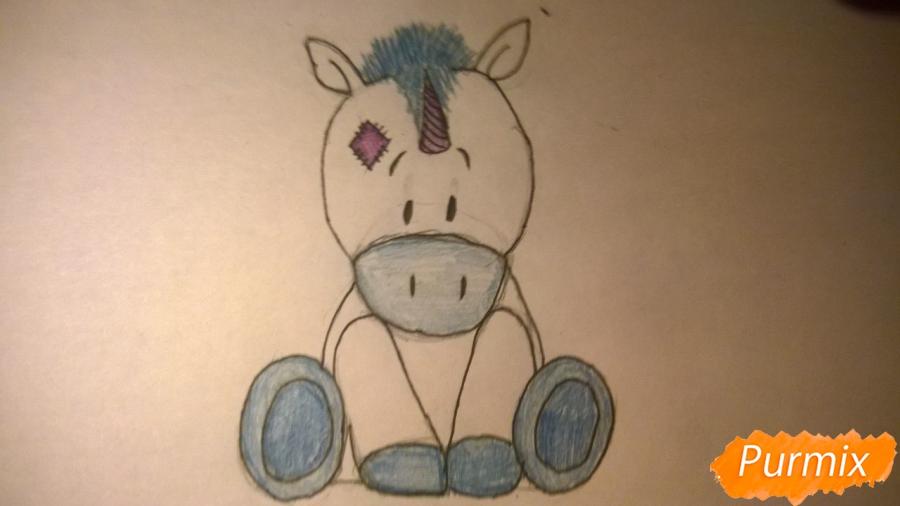 Рисуем единорожку для детей - шаг 10