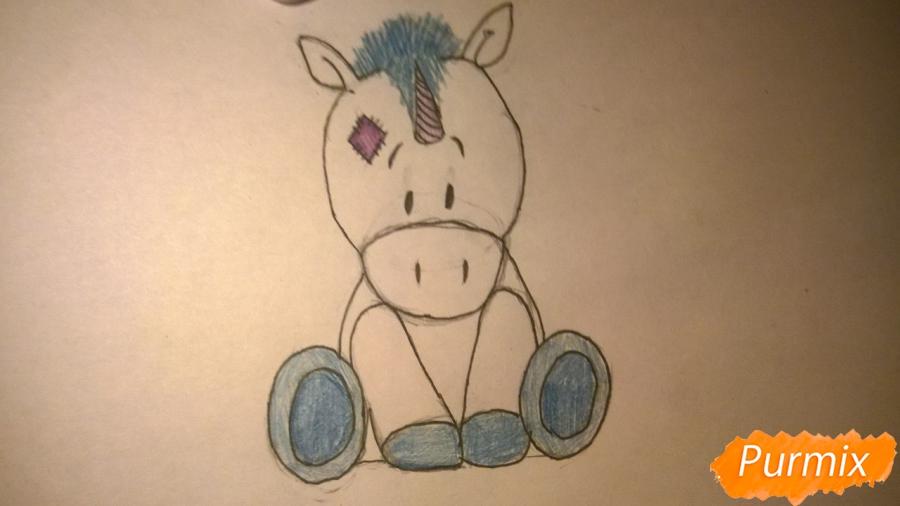 Рисуем единорожку для детей - шаг 9