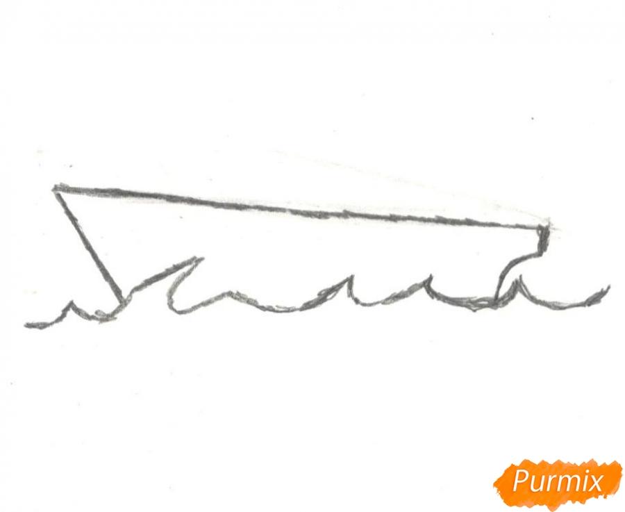 Рисуем кораблик (детский урок) - шаг 2