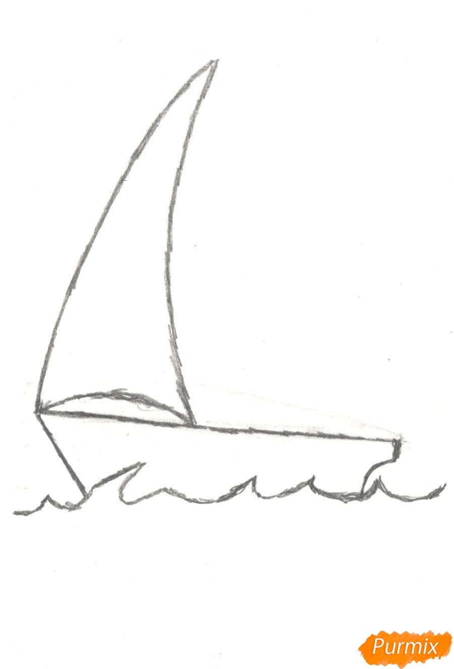 Рисуем кораблик (детский урок) - шаг 3