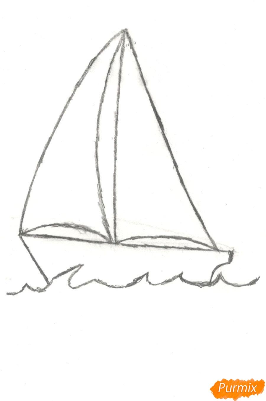 Рисуем кораблик (детский урок) - шаг 4