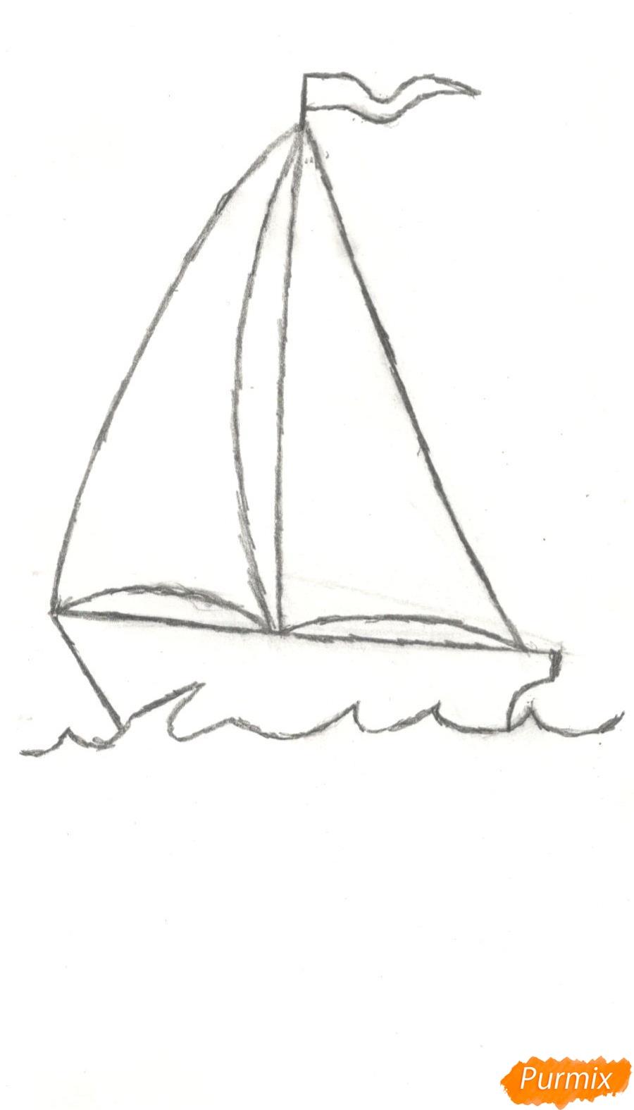 Рисуем кораблик (детский урок) - шаг 5