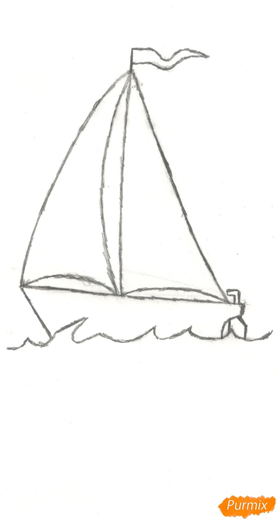 Рисуем кораблик (детский урок) - шаг 6