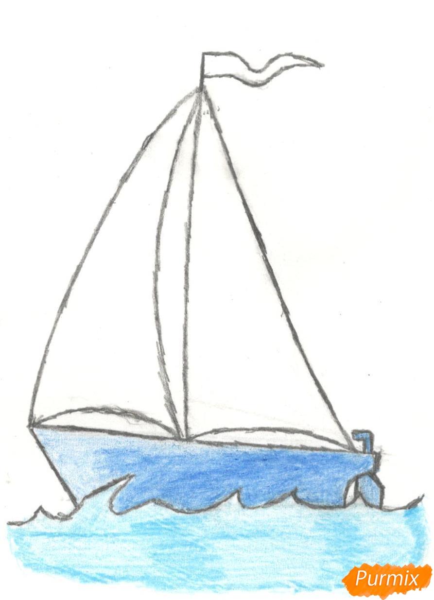Рисуем кораблик (детский урок) - шаг 8