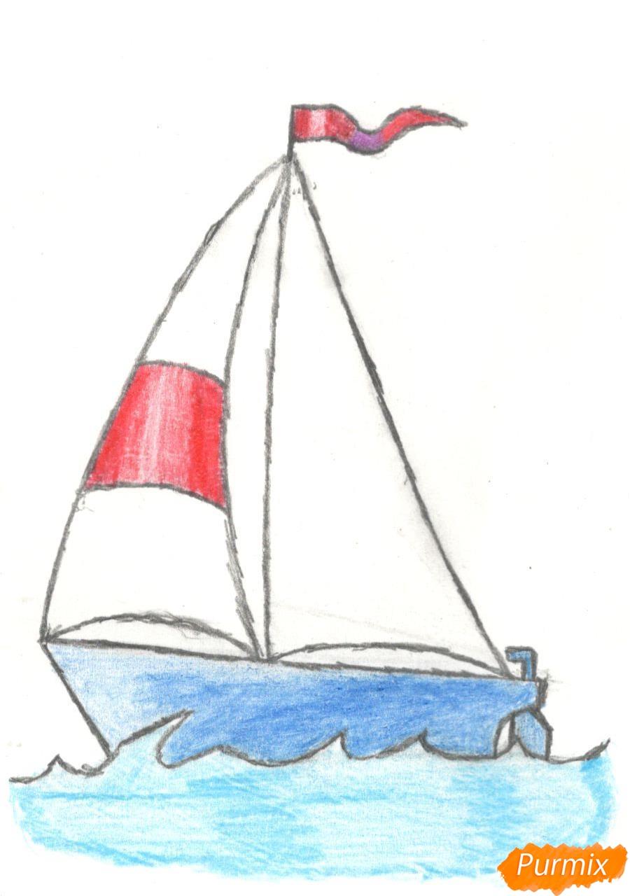 Рисуем кораблик (детский урок) - шаг 9