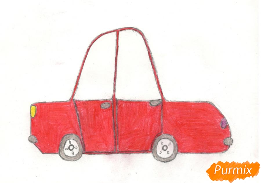 Рисуем машинку ребенку - шаг 10