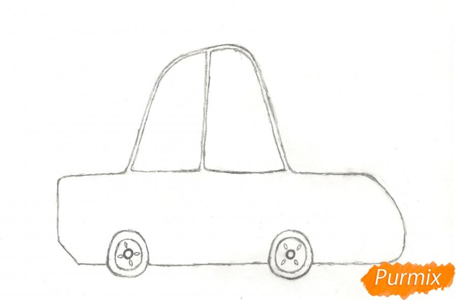 Рисуем машинку ребенку - шаг 3