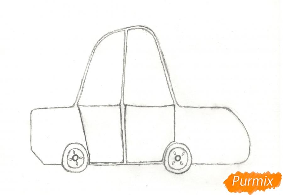 Рисуем машинку ребенку - шаг 4