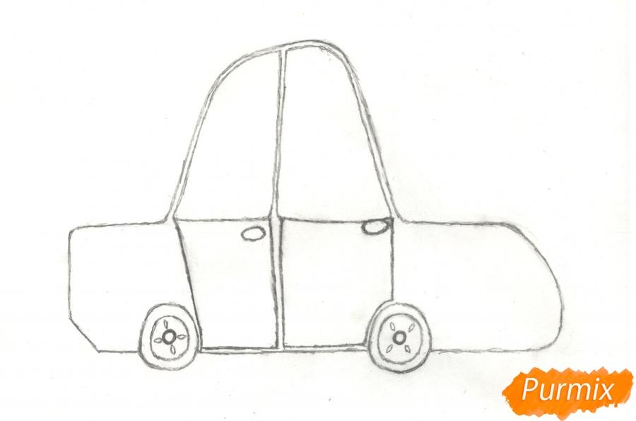 Рисуем машинку ребенку - шаг 5