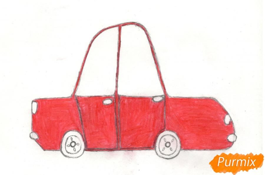 Рисуем машинку ребенку - шаг 8