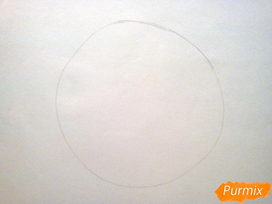 Рисуем милого барашка ребенку карандашами - шаг 1
