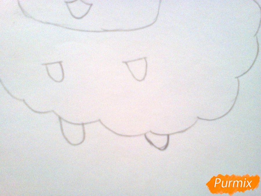 Рисуем милого барашка ребенку карандашами - шаг 4