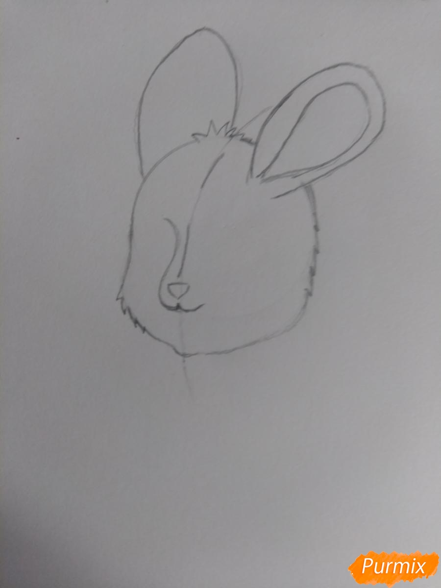 Рисуем зайку с морковкой ребенку - шаг 6