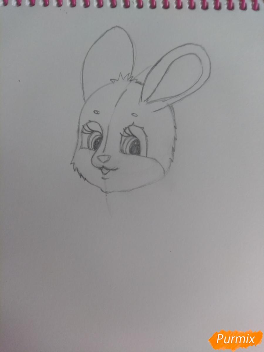 Рисуем зайку с морковкой ребенку - шаг 8