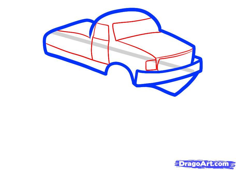 Рисуем машину монстр трак ребенку - шаг 3