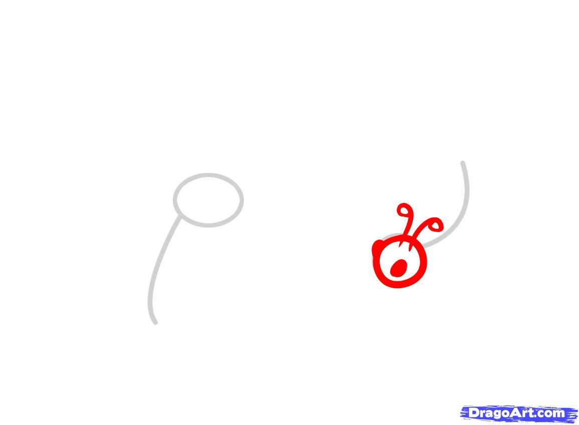 Рисуем бабочку ребенку - шаг 2
