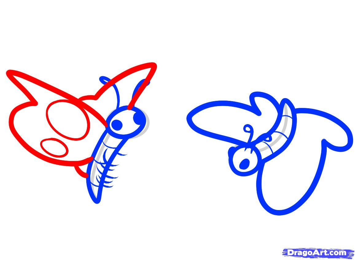 Рисуем бабочку ребенку - шаг 7