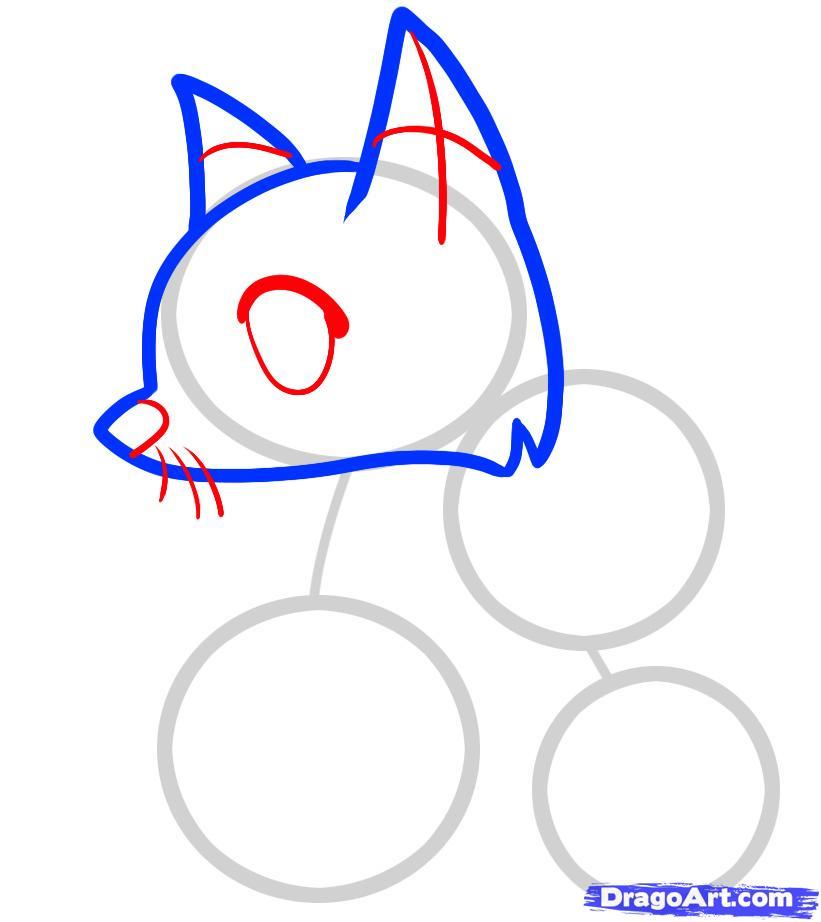 Рисуем двух лисичек ребенку - шаг 3
