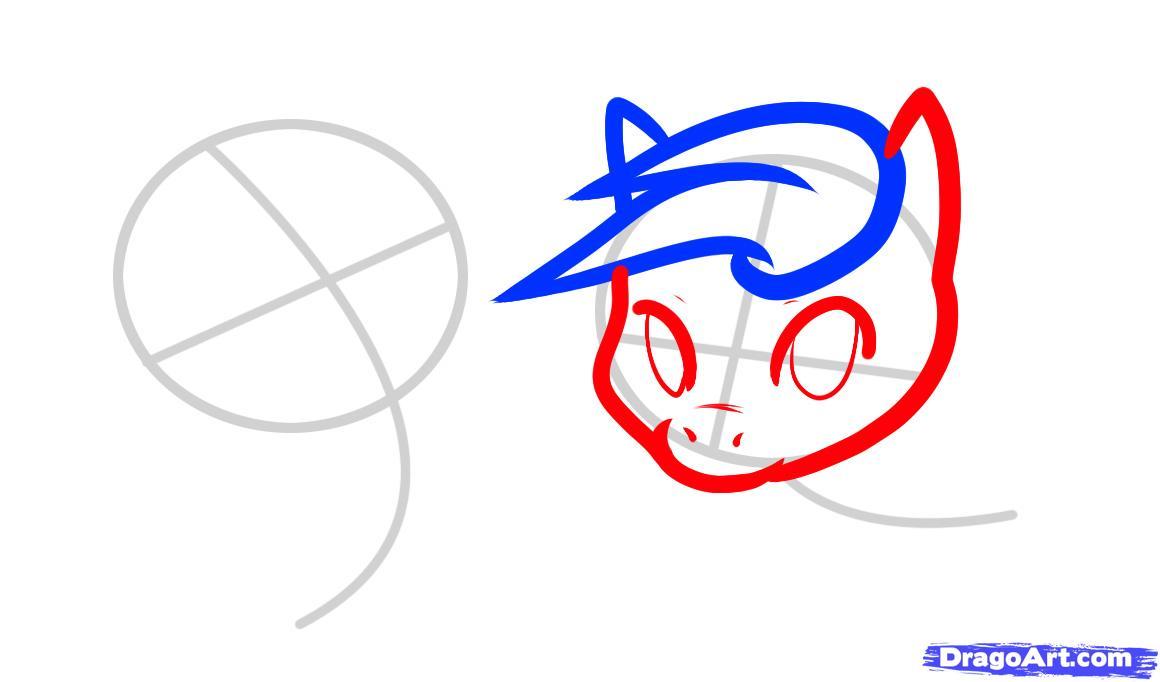 Рисуем двух маленьких лошадок - шаг 3