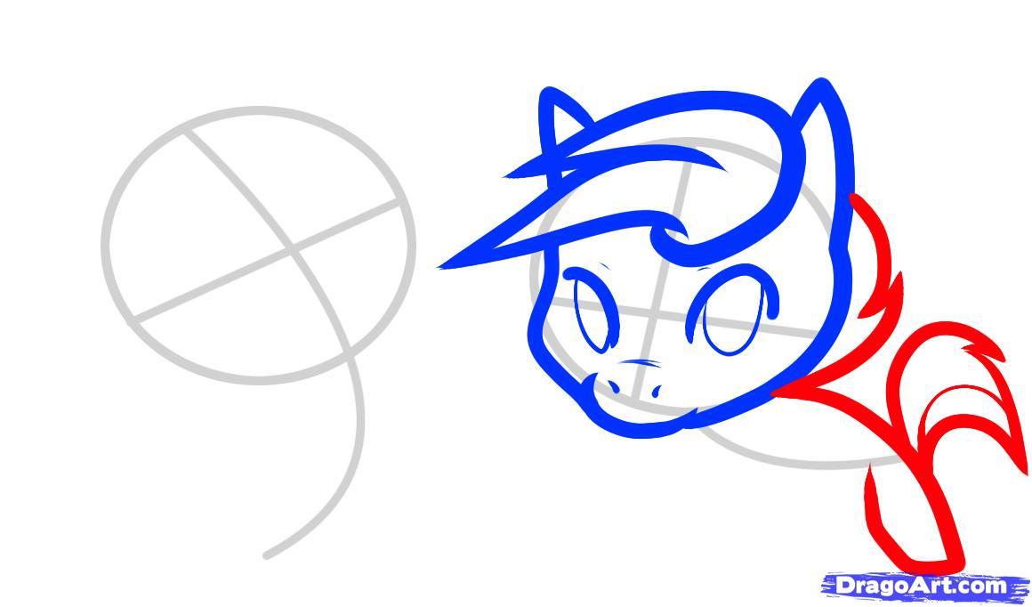 Рисуем двух маленьких лошадок - шаг 4