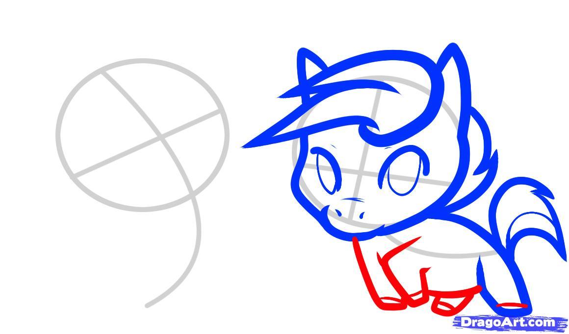 Рисуем двух маленьких лошадок - шаг 5
