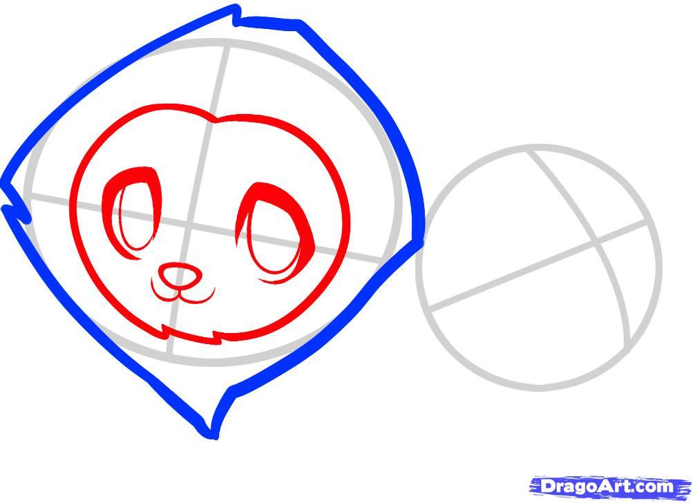 Рисуем двух маленьких львов ребенку - шаг 3