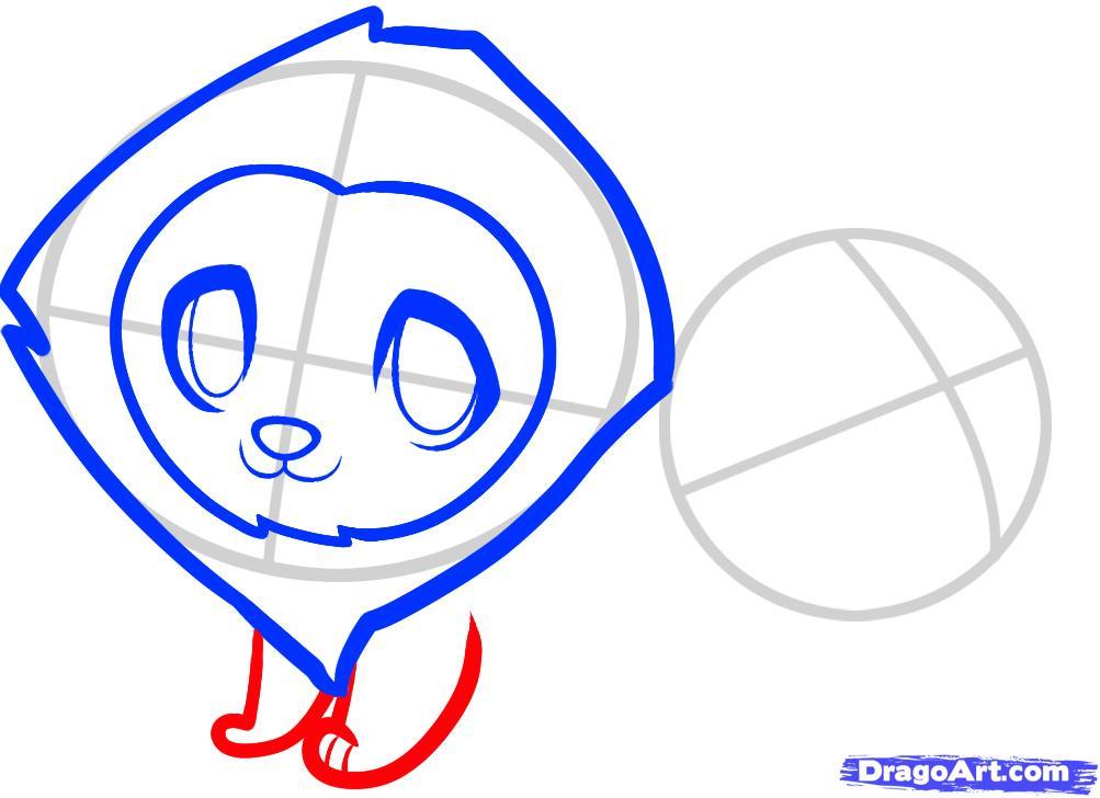 Рисуем двух маленьких львов ребенку - шаг 4