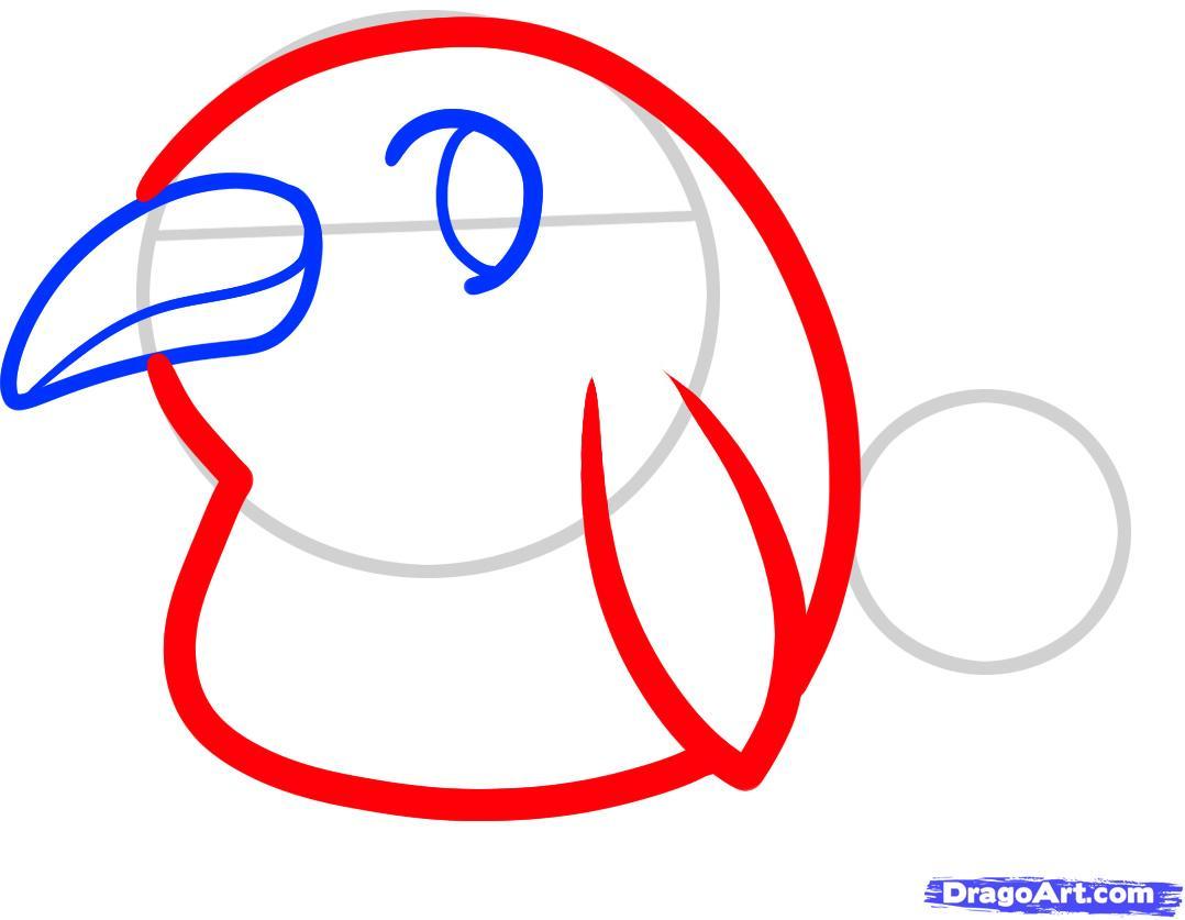 Рисуем двух маленьких пингвинов - шаг 3