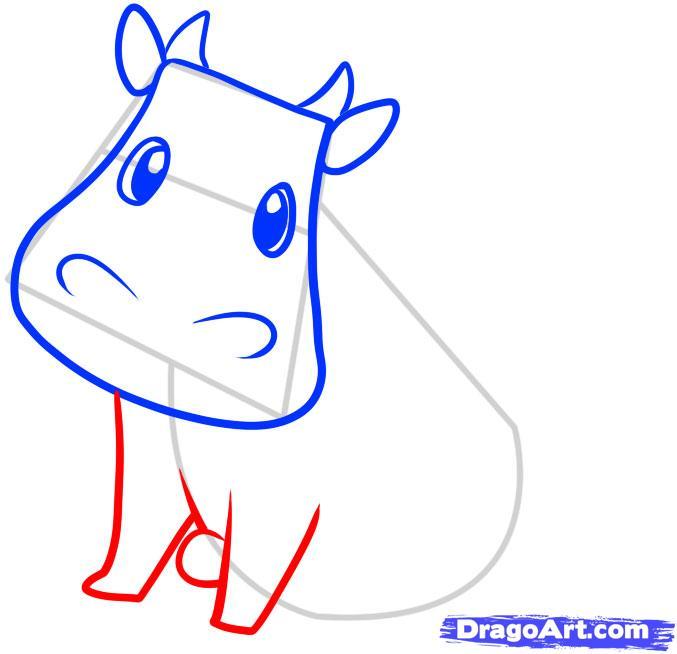 Рисуем корову ребенку - шаг 4
