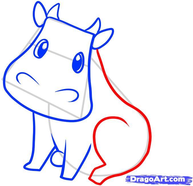 Рисуем корову ребенку - шаг 5