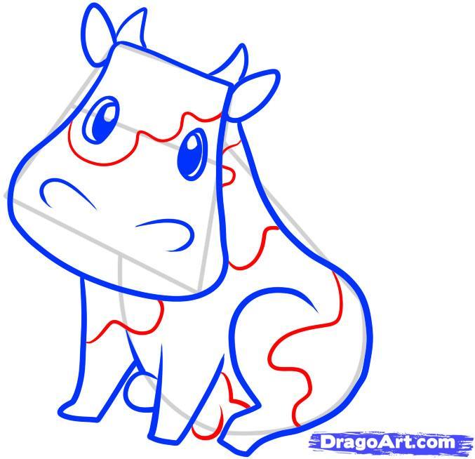 Рисуем корову ребенку - шаг 6