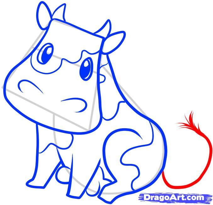 Рисуем корову ребенку - шаг 7