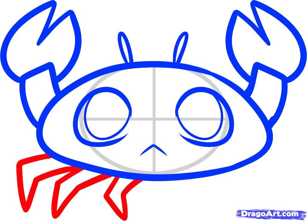 Рисуем крабика ребенку - шаг 5