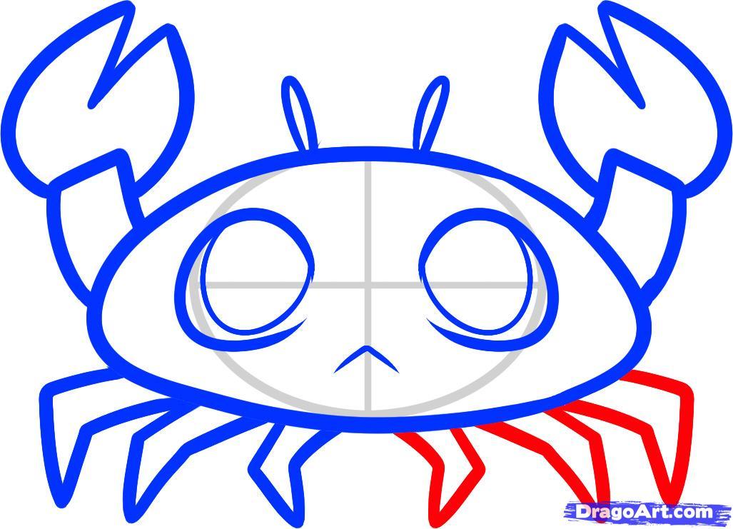Рисуем крабика ребенку - шаг 6
