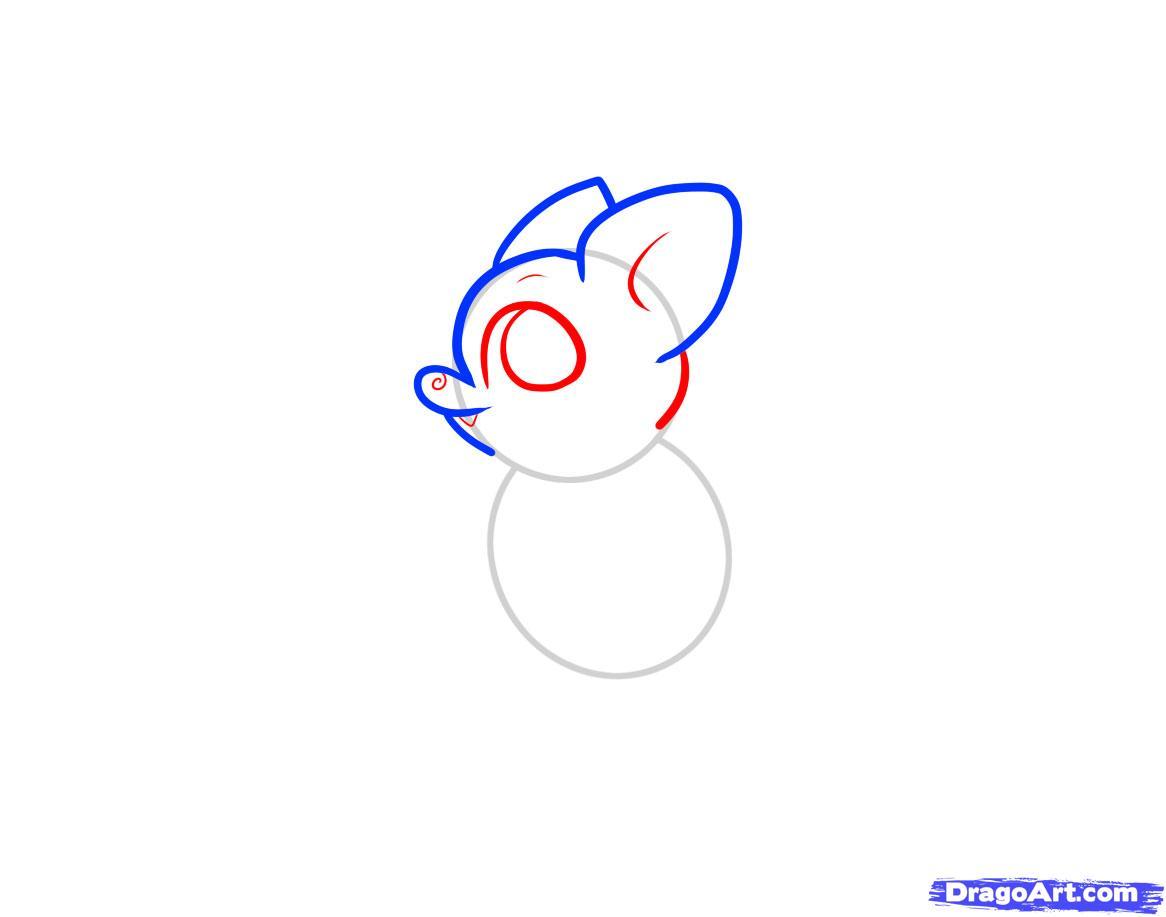 Рисуем летучую мышку ребенку