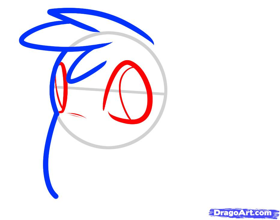 Рисуем маленького мамонта ребенку - шаг 3