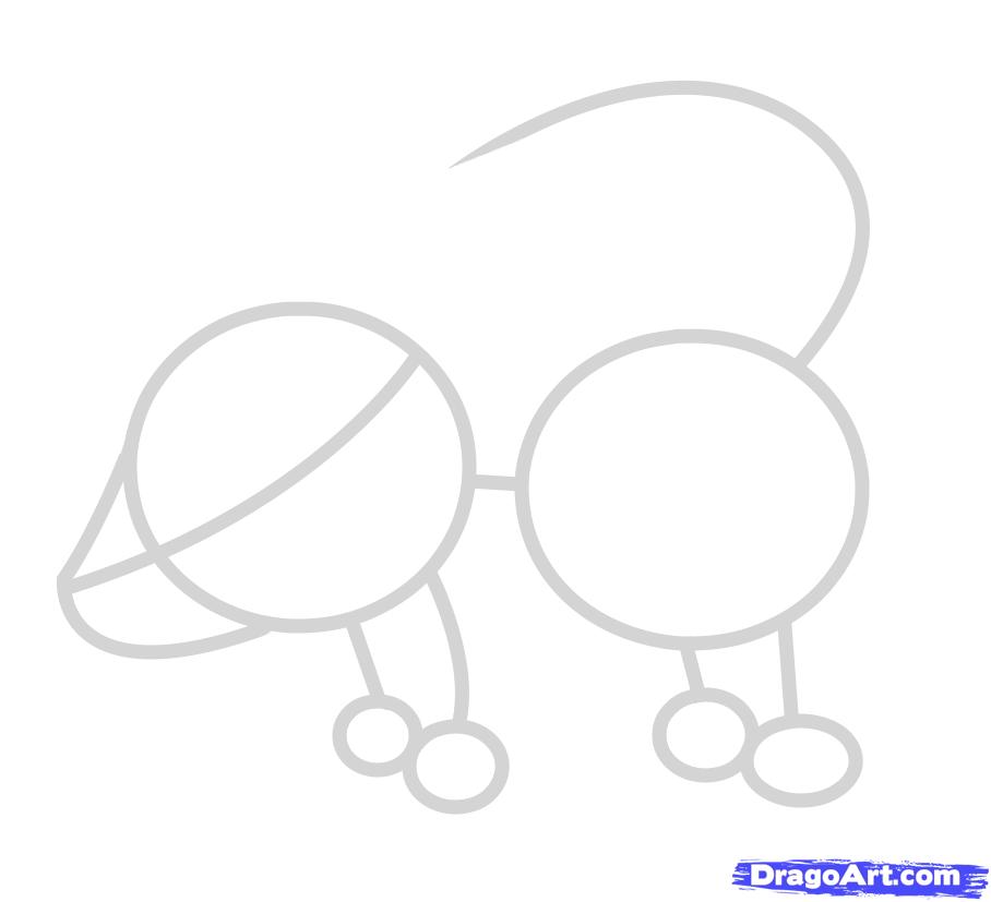 Рисуем маленького барсука ребенку