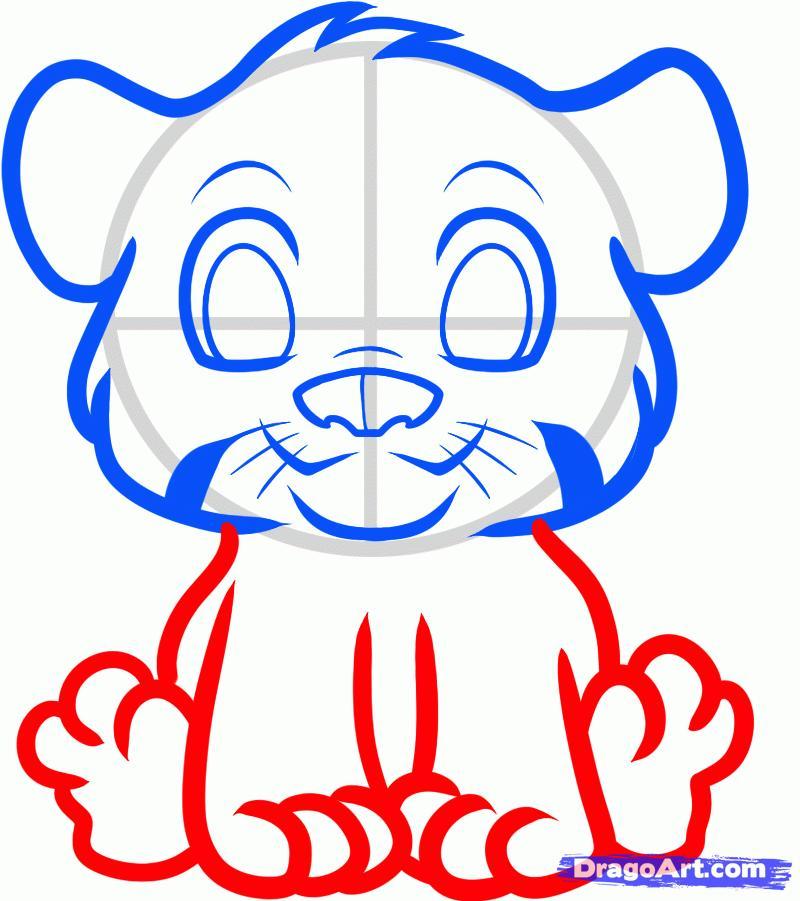Рисуем тигра   для детей - шаг 4