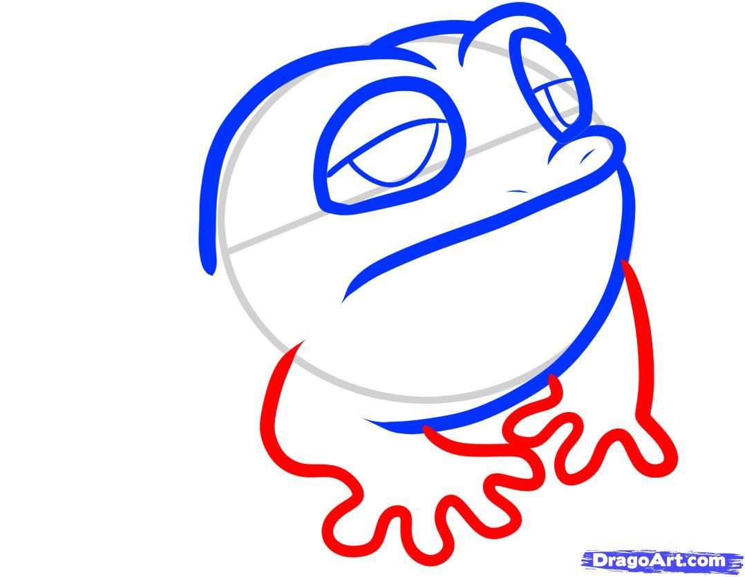 Рисуем маленькую жабу ребенку - шаг 4