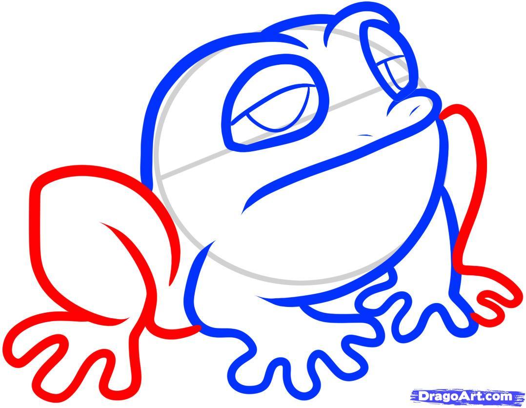 Рисуем маленькую жабу ребенку - шаг 5
