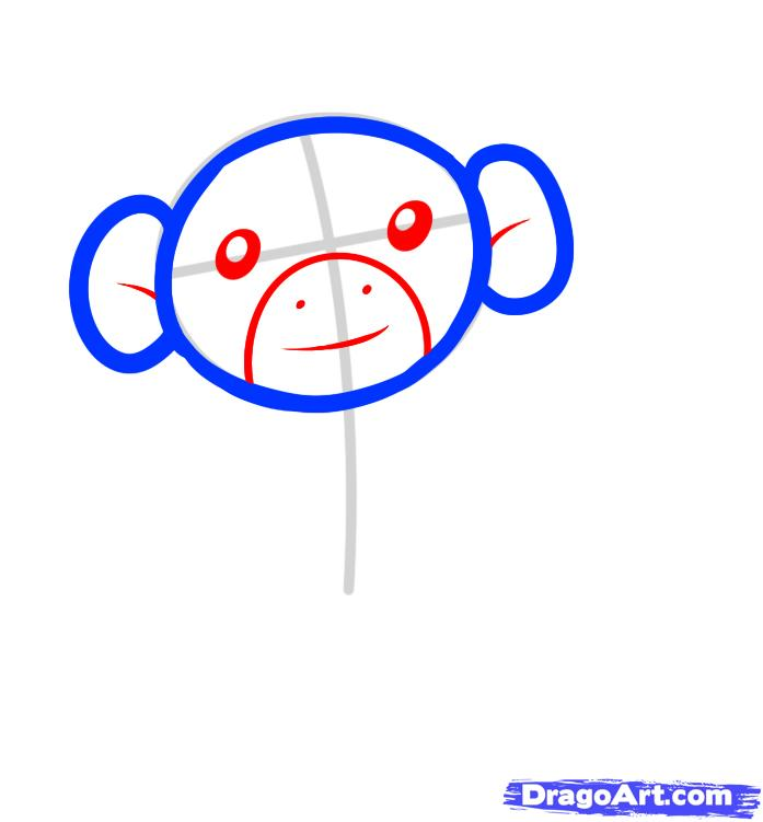 Рисуем обезьяну на дереве - шаг 3