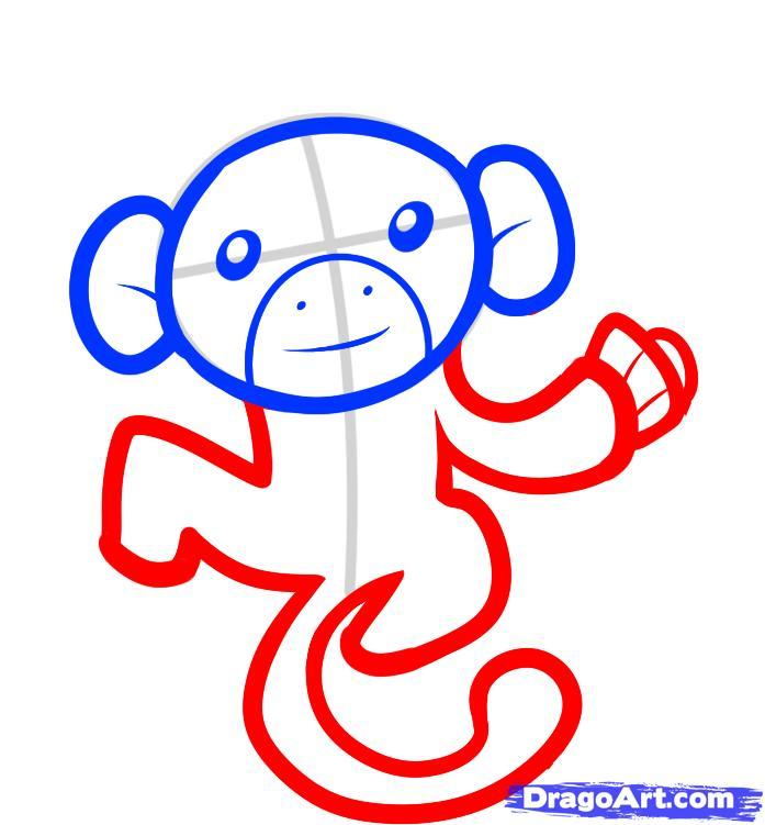 Рисуем обезьяну на дереве - шаг 4