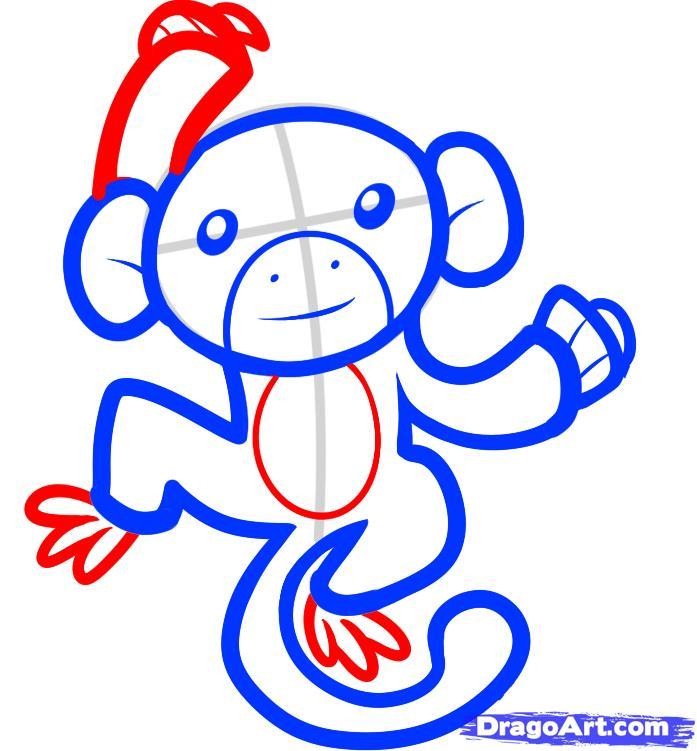 Рисуем обезьяну на дереве - шаг 5