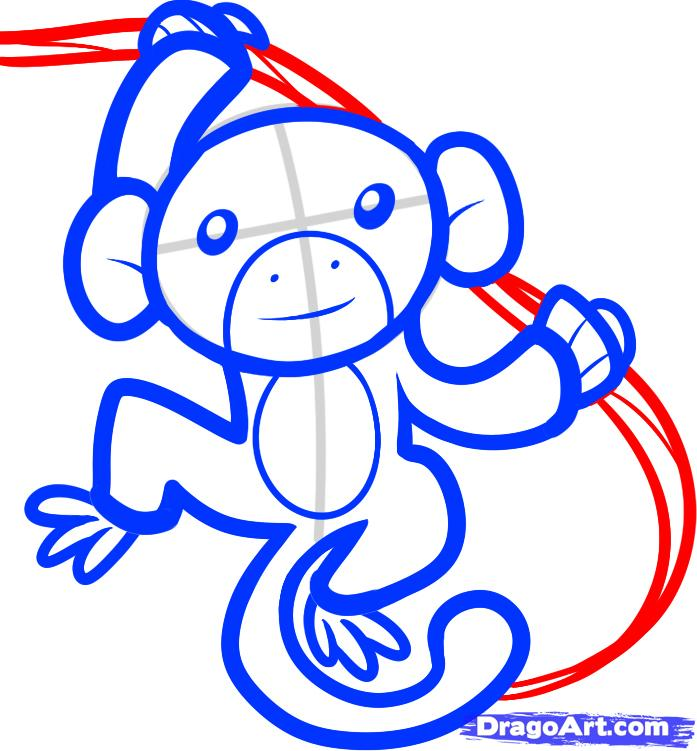 Рисуем обезьяну на дереве - шаг 6